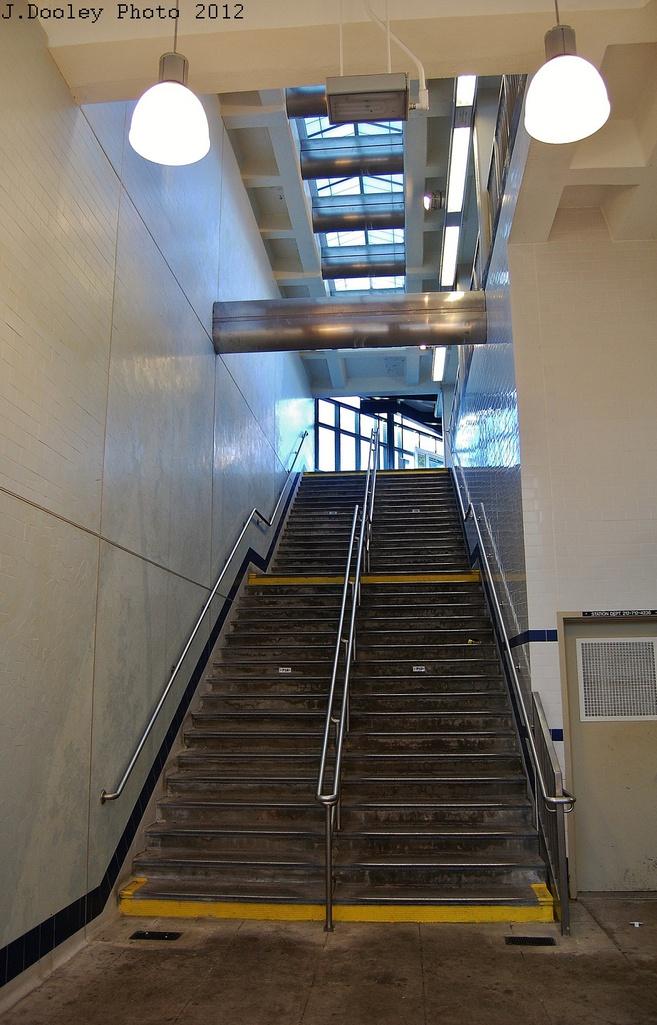(306k, 657x1025)<br><b>Country:</b> United States<br><b>City:</b> New York<br><b>System:</b> New York City Transit<br><b>Line:</b> BMT Brighton Line<br><b>Location:</b> Neck Road <br><b>Photo by:</b> John Dooley<br><b>Date:</b> 11/11/2012<br><b>Notes:</b> New staircase/station house<br><b>Viewed (this week/total):</b> 1 / 875