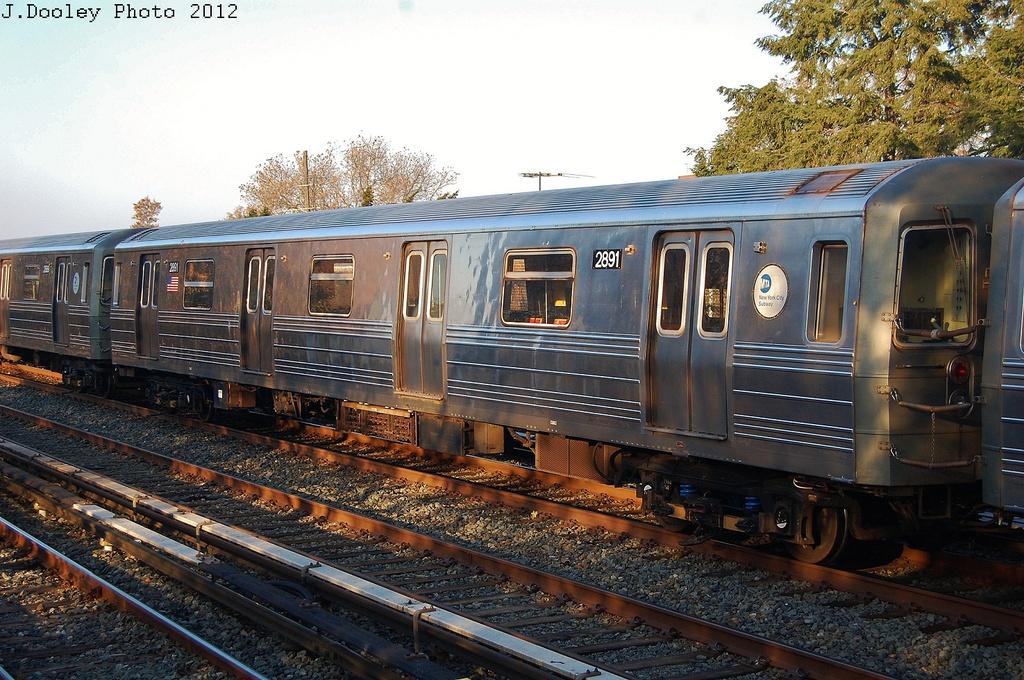 (392k, 1024x680)<br><b>Country:</b> United States<br><b>City:</b> New York<br><b>System:</b> New York City Transit<br><b>Line:</b> BMT Brighton Line<br><b>Location:</b> Avenue U <br><b>Car:</b> R-68 (Westinghouse-Amrail, 1986-1988)  2891 <br><b>Photo by:</b> John Dooley<br><b>Date:</b> 11/11/2012<br><b>Notes:</b> Post-Sandy layups due to Coney Island Yard cleanup<br><b>Viewed (this week/total):</b> 1 / 767