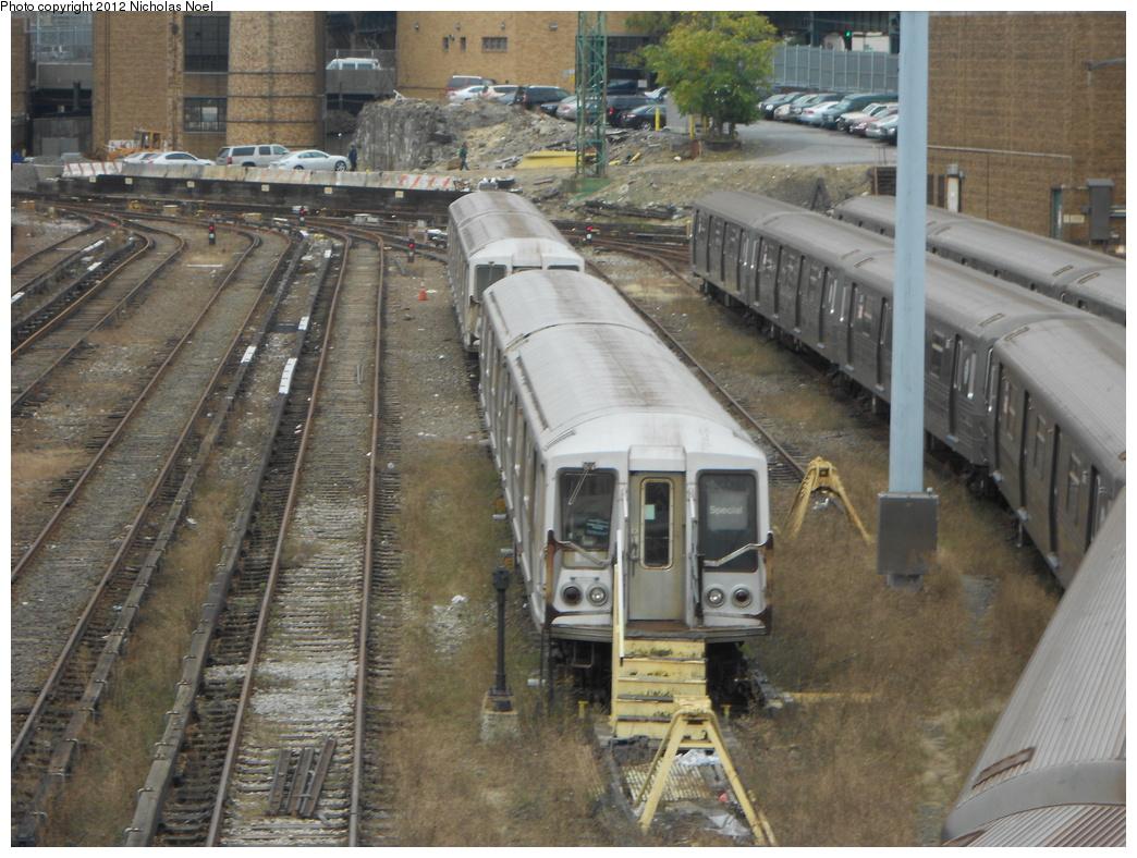 (414k, 1044x788)<br><b>Country:</b> United States<br><b>City:</b> New York<br><b>System:</b> New York City Transit<br><b>Location:</b> Concourse Yard<br><b>Car:</b> R-40 (St. Louis, 1968)   <br><b>Photo by:</b> Nicholas Noel<br><b>Date:</b> 10/26/2012<br><b>Viewed (this week/total):</b> 0 / 1211