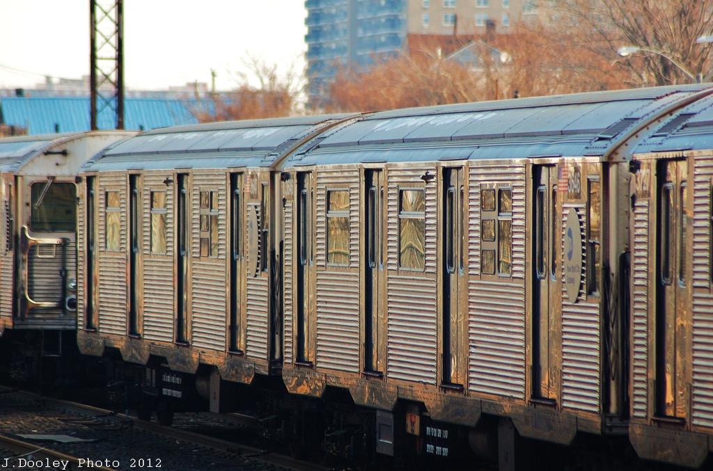 (348k, 1024x677)<br><b>Country:</b> United States<br><b>City:</b> New York<br><b>System:</b> New York City Transit<br><b>Location:</b> Rockaway Park Yard<br><b>Car:</b> R-32 (Budd, 1964)  3646-47 <br><b>Photo by:</b> John Dooley<br><b>Date:</b> 11/18/2012<br><b>Viewed (this week/total):</b> 3 / 581