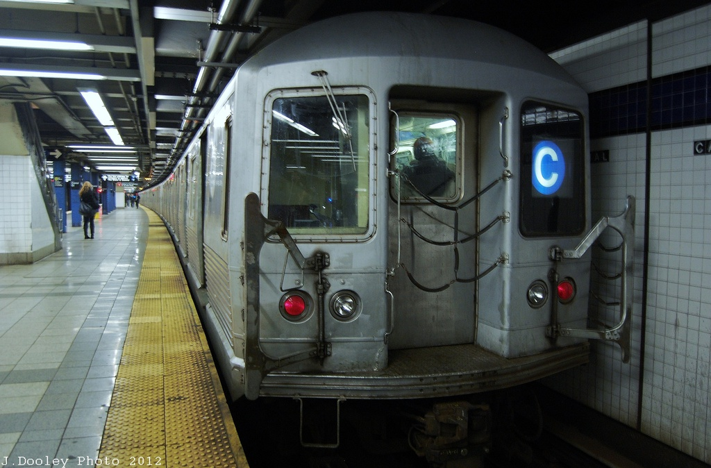 (297k, 1024x674)<br><b>Country:</b> United States<br><b>City:</b> New York<br><b>System:</b> New York City Transit<br><b>Line:</b> IND 8th Avenue Line<br><b>Location:</b> Canal Street-Holland Tunnel <br><b>Route:</b> C<br><b>Car:</b> R-42 (St. Louis, 1969-1970)  4802 <br><b>Photo by:</b> John Dooley<br><b>Date:</b> 11/13/2012<br><b>Viewed (this week/total):</b> 2 / 1397