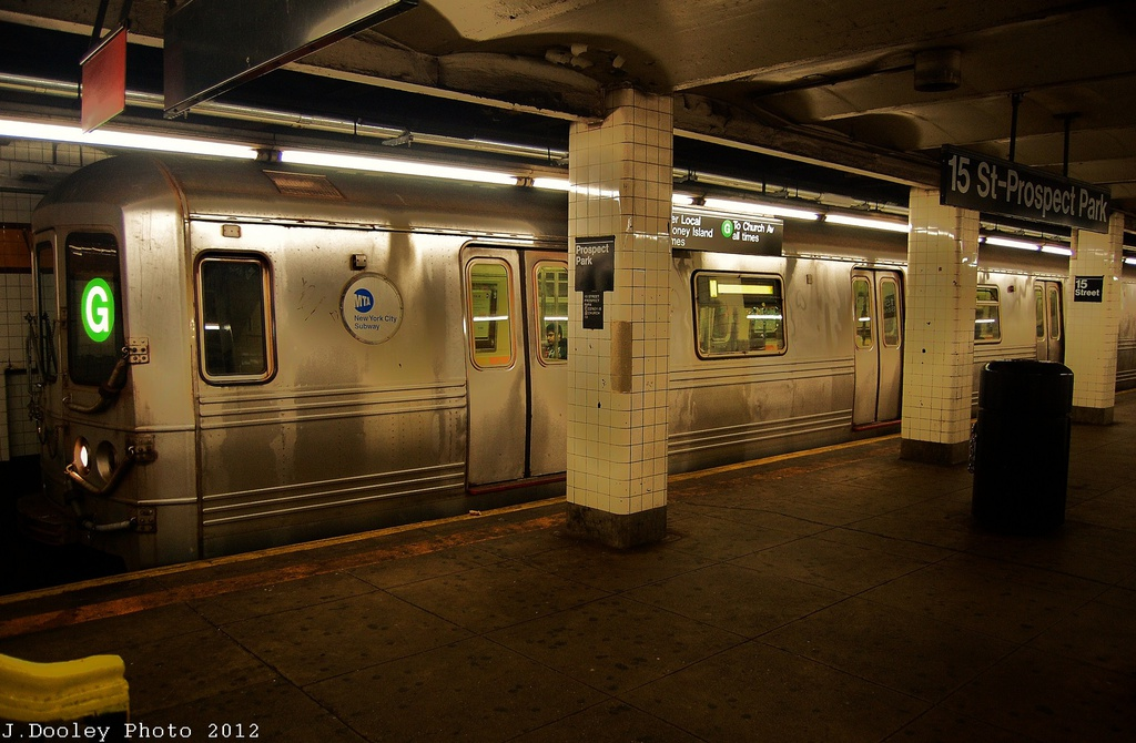 (307k, 1024x670)<br><b>Country:</b> United States<br><b>City:</b> New York<br><b>System:</b> New York City Transit<br><b>Line:</b> IND Crosstown Line<br><b>Location:</b> 15th Street/Prospect Park <br><b>Route:</b> G<br><b>Car:</b> R-46 (Pullman-Standard, 1974-75) 5820 <br><b>Photo by:</b> John Dooley<br><b>Date:</b> 11/13/2012<br><b>Viewed (this week/total):</b> 9 / 1053
