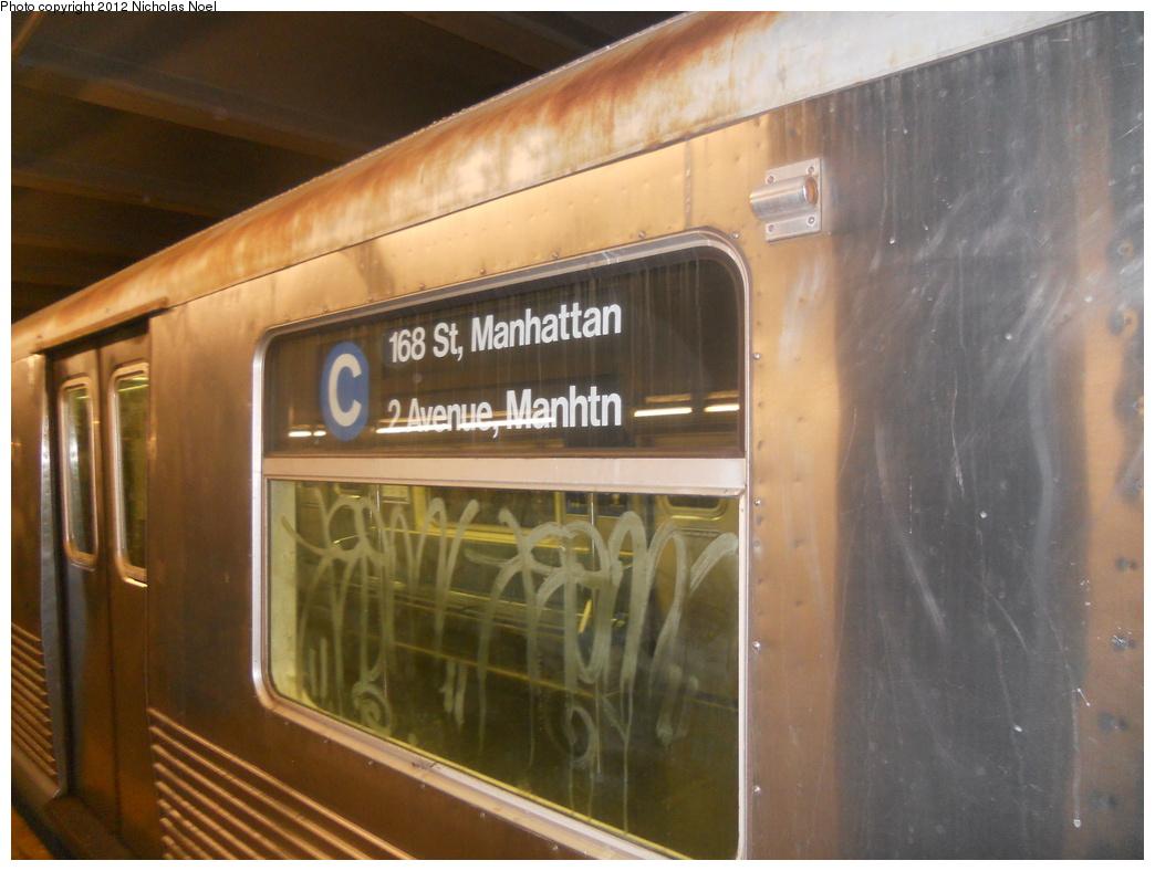 (328k, 1044x788)<br><b>Country:</b> United States<br><b>City:</b> New York<br><b>System:</b> New York City Transit<br><b>Line:</b> IND 6th Avenue Line<br><b>Location:</b> 2nd Avenue <br><b>Route:</b> C reroute<br><b>Car:</b> R-42 (St. Louis, 1969-1970)  4790 <br><b>Photo by:</b> Nicholas Noel<br><b>Date:</b> 12/2/2012<br><b>Viewed (this week/total):</b> 3 / 1020