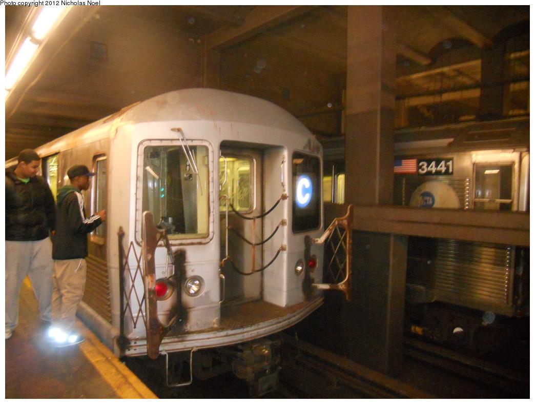 (354k, 1044x788)<br><b>Country:</b> United States<br><b>City:</b> New York<br><b>System:</b> New York City Transit<br><b>Line:</b> IND 6th Avenue Line<br><b>Location:</b> 2nd Avenue <br><b>Route:</b> C reroute<br><b>Car:</b> R-42 (St. Louis, 1969-1970)  4790 <br><b>Photo by:</b> Nicholas Noel<br><b>Date:</b> 12/2/2012<br><b>Viewed (this week/total):</b> 0 / 1048