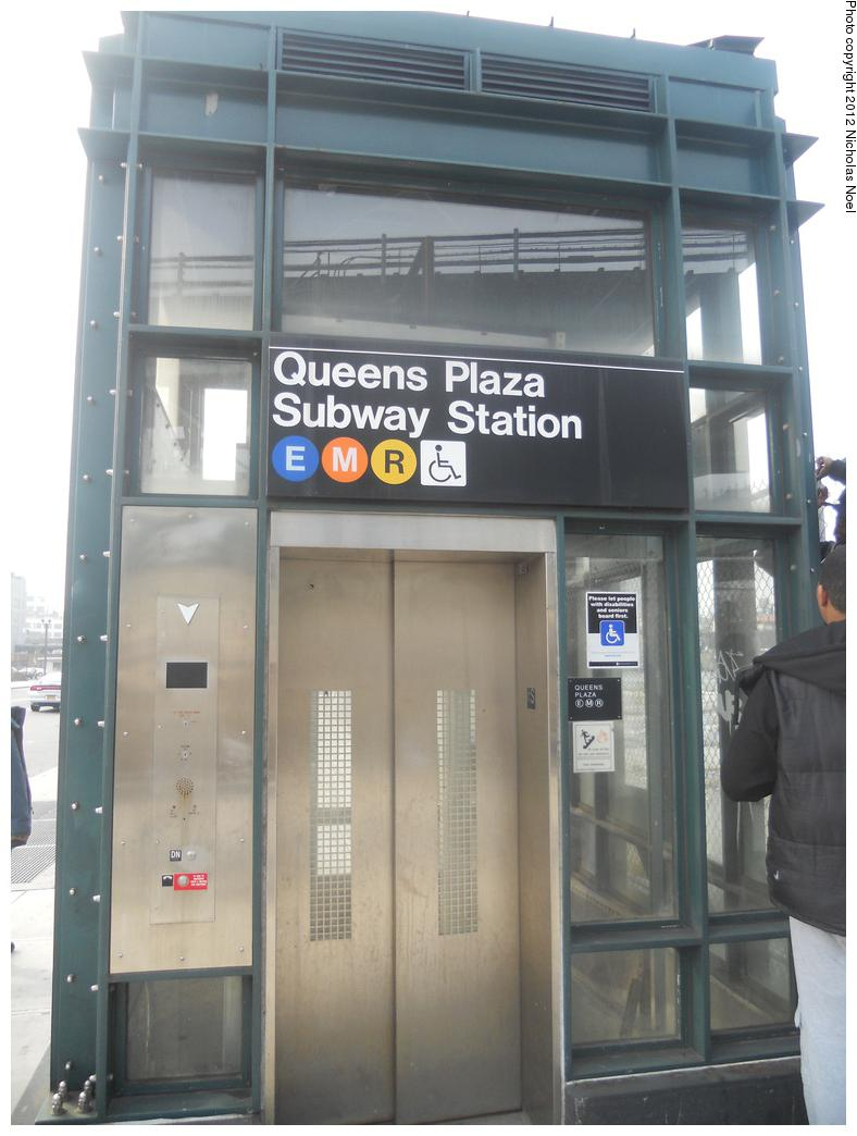 (151k, 788x1044)<br><b>Country:</b> United States<br><b>City:</b> New York<br><b>System:</b> New York City Transit<br><b>Line:</b> IND Queens Boulevard Line<br><b>Location:</b> Queens Plaza <br><b>Photo by:</b> Nicholas Noel<br><b>Date:</b> 12/2/2012<br><b>Notes:</b> Station entrance (elevator)<br><b>Viewed (this week/total):</b> 1 / 725