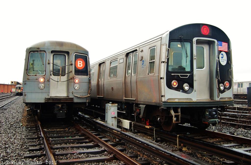 (289k, 1024x675)<br><b>Country:</b> United States<br><b>City:</b> New York<br><b>System:</b> New York City Transit<br><b>Location:</b> Coney Island Yard<br><b>Car:</b> R-160B (Option 1) (Kawasaki, 2008-2009)  8988 <br><b>Photo by:</b> John Dooley<br><b>Date:</b> 12/9/2012<br><b>Viewed (this week/total):</b> 4 / 980