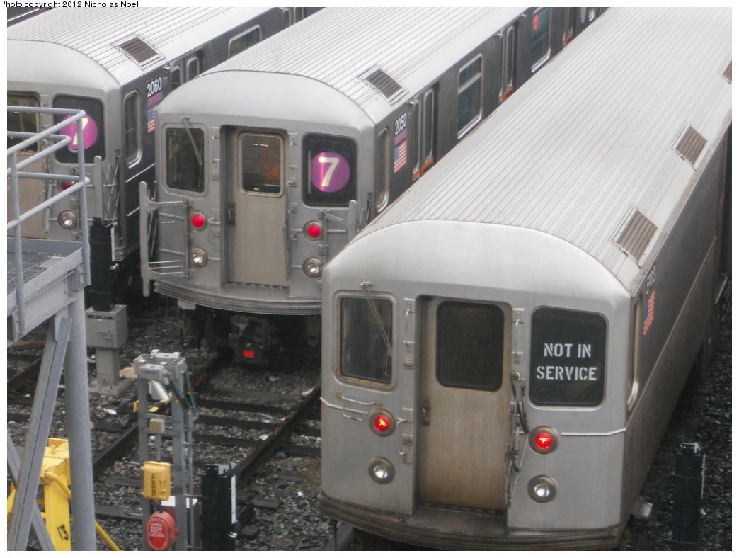 (335k, 1044x788)<br><b>Country:</b> United States<br><b>City:</b> New York<br><b>System:</b> New York City Transit<br><b>Location:</b> Corona Yard<br><b>Car:</b> R-127/R-134 (Kawasaki, 1991-1996)  <br><b>Photo by:</b> Nicholas Noel<br><b>Date:</b> 12/9/2012<br><b>Viewed (this week/total):</b> 0 / 790