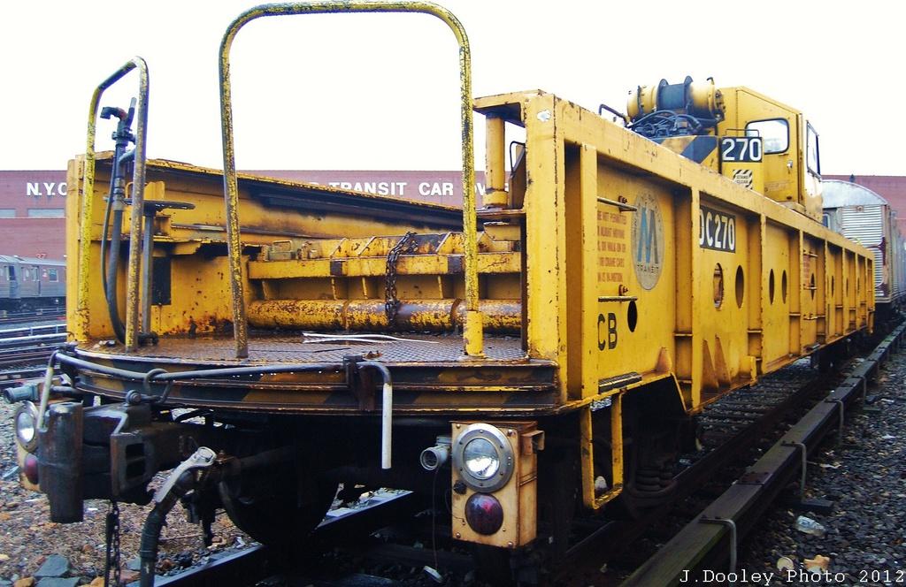 (328k, 1024x664)<br><b>Country:</b> United States<br><b>City:</b> New York<br><b>System:</b> New York City Transit<br><b>Location:</b> Coney Island Yard<br><b>Car:</b> R-113 Crane Car  270 <br><b>Photo by:</b> John Dooley<br><b>Date:</b> 12/8/2012<br><b>Viewed (this week/total):</b> 5 / 539