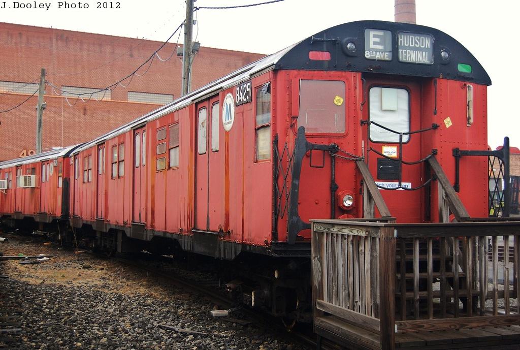 (353k, 1024x689)<br><b>Country:</b> United States<br><b>City:</b> New York<br><b>System:</b> New York City Transit<br><b>Location:</b> Coney Island Yard-Museum Yard<br><b>Car:</b> R-30 (St. Louis, 1961) 8425 <br><b>Photo by:</b> John Dooley<br><b>Date:</b> 12/8/2012<br><b>Notes:</b> School car<br><b>Viewed (this week/total):</b> 4 / 1752