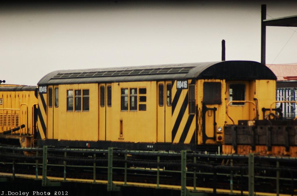(250k, 1024x674)<br><b>Country:</b> United States<br><b>City:</b> New York<br><b>System:</b> New York City Transit<br><b>Line:</b> BMT Culver Line<br><b>Location:</b> Avenue X <br><b>Car:</b> R-161 Rider Car (ex-R-33)  RD416 <br><b>Photo by:</b> John Dooley<br><b>Date:</b> 12/8/2012<br><b>Viewed (this week/total):</b> 3 / 724