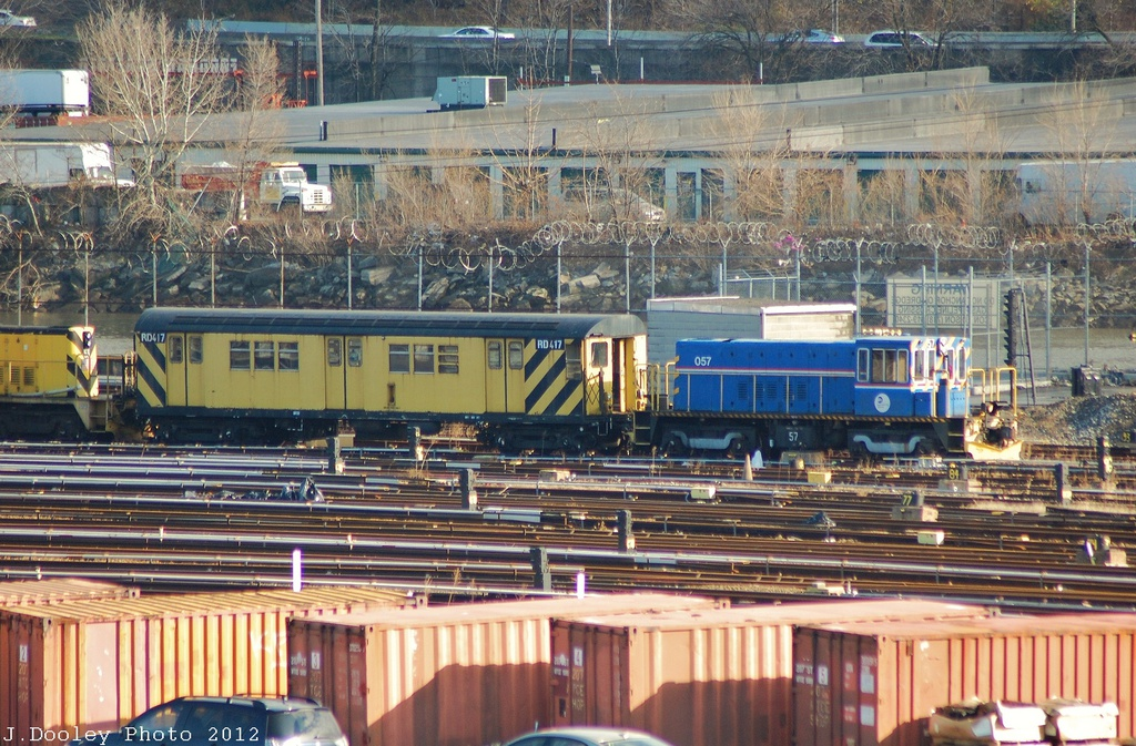 (412k, 1024x673)<br><b>Country:</b> United States<br><b>City:</b> New York<br><b>System:</b> New York City Transit<br><b>Location:</b> 207th Street Yard<br><b>Car:</b> R-41 Locomotive  57 <br><b>Photo by:</b> John Dooley<br><b>Date:</b> 12/11/2012<br><b>Notes:</b> With RD417<br><b>Viewed (this week/total):</b> 0 / 664