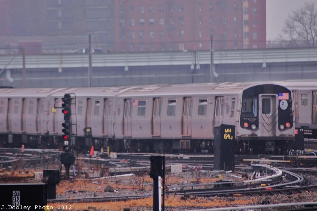 (278k, 1024x681)<br><b>Country:</b> United States<br><b>City:</b> New York<br><b>System:</b> New York City Transit<br><b>Location:</b> Coney Island Yard<br><b>Car:</b> R-160B (Kawasaki, 2005-2008)  8773 <br><b>Photo by:</b> John Dooley<br><b>Date:</b> 12/8/2012<br><b>Viewed (this week/total):</b> 3 / 736