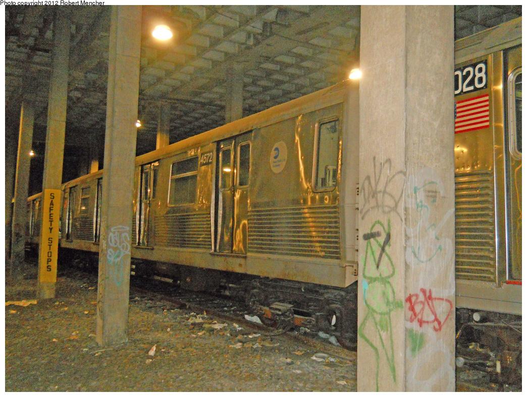 (537k, 1044x788)<br><b>Country:</b> United States<br><b>City:</b> New York<br><b>System:</b> New York City Transit<br><b>Location:</b> Pitkin Yard/Shops<br><b>Car:</b> R-42 (St. Louis, 1969-1970)  4572 <br><b>Photo by:</b> Robert Mencher<br><b>Date:</b> 10/20/2012<br><b>Viewed (this week/total):</b> 2 / 1277