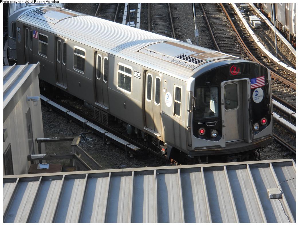 (399k, 1044x788)<br><b>Country:</b> United States<br><b>City:</b> New York<br><b>System:</b> New York City Transit<br><b>Location:</b> East New York Yard/Shops<br><b>Car:</b> R-160A-1 (Alstom, 2005-2008, 4 car sets)  8625 <br><b>Photo by:</b> Robert Mencher<br><b>Date:</b> 10/21/2012<br><b>Viewed (this week/total):</b> 4 / 612