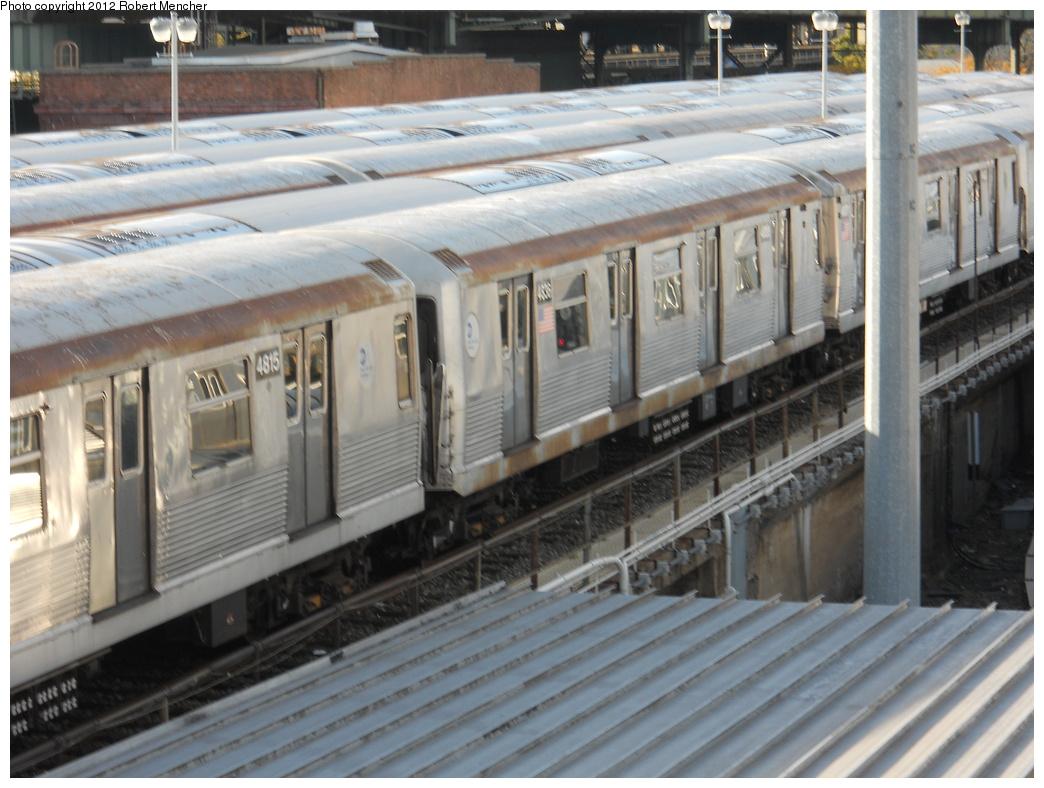 (353k, 1044x788)<br><b>Country:</b> United States<br><b>City:</b> New York<br><b>System:</b> New York City Transit<br><b>Location:</b> East New York Yard/Shops<br><b>Car:</b> R-42 (St. Louis, 1969-1970)  4815 <br><b>Photo by:</b> Robert Mencher<br><b>Date:</b> 10/21/2012<br><b>Viewed (this week/total):</b> 0 / 656