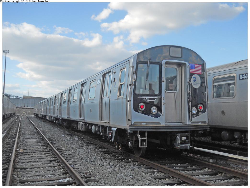 (363k, 1044x788)<br><b>Country:</b> United States<br><b>City:</b> New York<br><b>System:</b> New York City Transit<br><b>Location:</b> East New York Yard/Shops<br><b>Car:</b> R-160A-1 (Alstom, 2005-2008, 4 car sets)  8320 <br><b>Photo by:</b> Robert Mencher<br><b>Date:</b> 10/21/2012<br><b>Viewed (this week/total):</b> 0 / 696