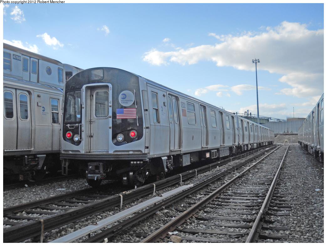 (380k, 1044x788)<br><b>Country:</b> United States<br><b>City:</b> New York<br><b>System:</b> New York City Transit<br><b>Location:</b> East New York Yard/Shops<br><b>Car:</b> R-143 (Kawasaki, 2001-2002) 8245 <br><b>Photo by:</b> Robert Mencher<br><b>Date:</b> 10/21/2012<br><b>Viewed (this week/total):</b> 0 / 462