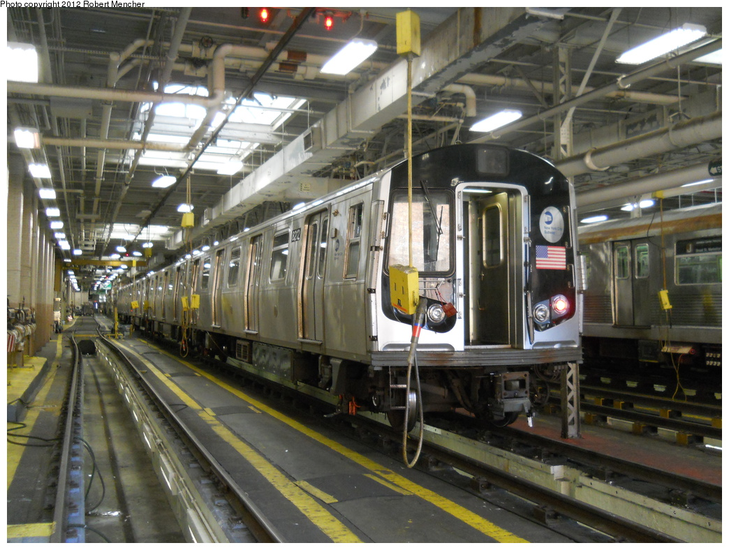 (407k, 1044x788)<br><b>Country:</b> United States<br><b>City:</b> New York<br><b>System:</b> New York City Transit<br><b>Location:</b> East New York Yard/Shops<br><b>Car:</b> R-143 (Kawasaki, 2001-2002) 8212 <br><b>Photo by:</b> Robert Mencher<br><b>Date:</b> 10/21/2012<br><b>Viewed (this week/total):</b> 0 / 558