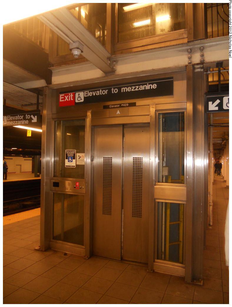 (154k, 788x1044)<br><b>Country:</b> United States<br><b>City:</b> New York<br><b>System:</b> New York City Transit<br><b>Line:</b> IND Queens Boulevard Line<br><b>Location:</b> Queens Plaza <br><b>Photo by:</b> Nicholas Noel<br><b>Date:</b> 12/16/2012<br><b>Notes:</b> Elevator to mezzanine<br><b>Viewed (this week/total):</b> 2 / 709