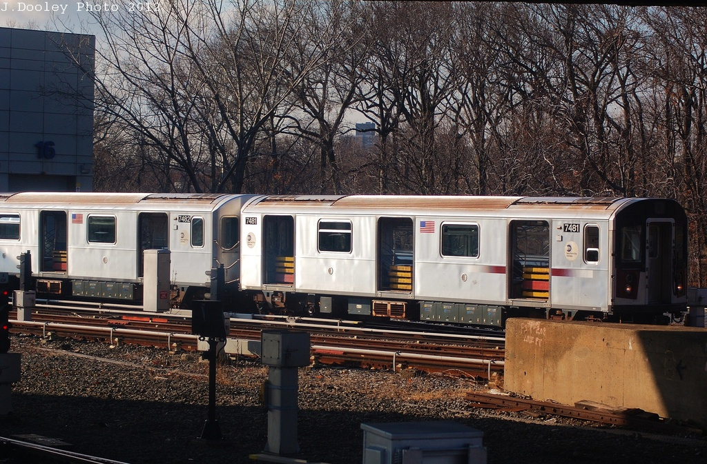 (424k, 1024x673)<br><b>Country:</b> United States<br><b>City:</b> New York<br><b>System:</b> New York City Transit<br><b>Location:</b> East 180th Street Yard<br><b>Car:</b> R-142A (Primary Order, Kawasaki, 1999-2002)  7481 <br><b>Photo by:</b> John Dooley<br><b>Date:</b> 12/18/2012<br><b>Viewed (this week/total):</b> 0 / 1054