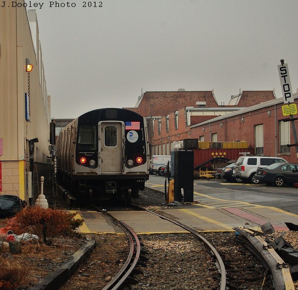 (476k, 1024x997)<br><b>Country:</b> United States<br><b>City:</b> New York<br><b>System:</b> New York City Transit<br><b>Location:</b> Coney Island Yard<br><b>Car:</b> R-160A/R-160B Series (Number Unknown)  <br><b>Photo by:</b> John Dooley<br><b>Date:</b> 12/8/2012<br><b>Viewed (this week/total):</b> 3 / 810