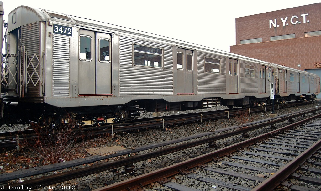 (357k, 1024x611)<br><b>Country:</b> United States<br><b>City:</b> New York<br><b>System:</b> New York City Transit<br><b>Location:</b> Coney Island Yard<br><b>Car:</b> R-32 (Budd, 1964)  3472 <br><b>Photo by:</b> John Dooley<br><b>Date:</b> 12/8/2012<br><b>Viewed (this week/total):</b> 0 / 761