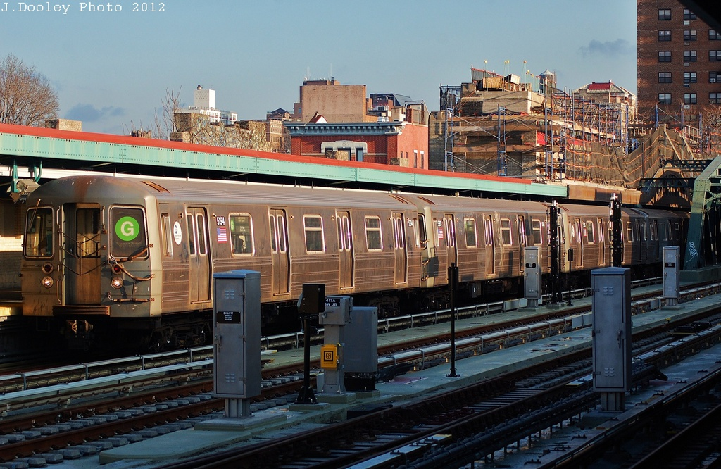 (361k, 1024x666)<br><b>Country:</b> United States<br><b>City:</b> New York<br><b>System:</b> New York City Transit<br><b>Line:</b> IND Crosstown Line<br><b>Location:</b> 4th Avenue <br><b>Route:</b> G<br><b>Car:</b> R-68A (Kawasaki, 1988-1989)  5194 <br><b>Photo by:</b> John Dooley<br><b>Date:</b> 12/18/2012<br><b>Viewed (this week/total):</b> 1 / 1264