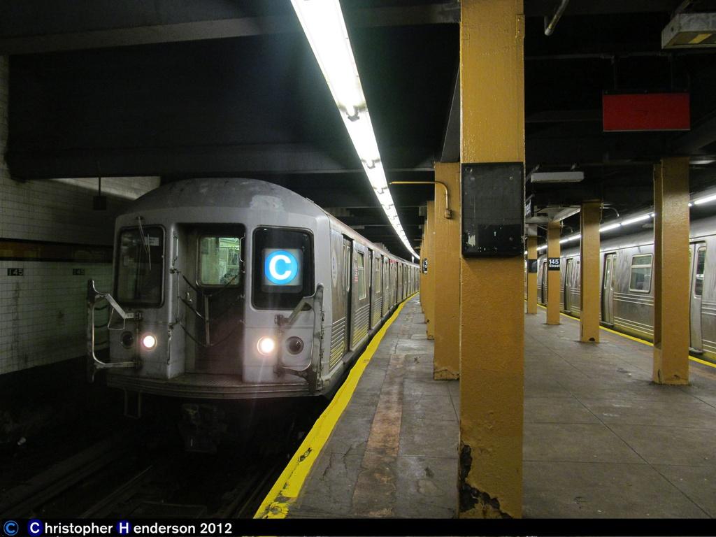 (239k, 1024x768)<br><b>Country:</b> United States<br><b>City:</b> New York<br><b>System:</b> New York City Transit<br><b>Line:</b> IND 8th Avenue Line<br><b>Location:</b> 145th Street <br><b>Route:</b> C<br><b>Car:</b> R-42 (St. Louis, 1969-1970)  4793 <br><b>Photo by:</b> Christopher Henderson<br><b>Date:</b> 11/7/2012<br><b>Viewed (this week/total):</b> 2 / 1142