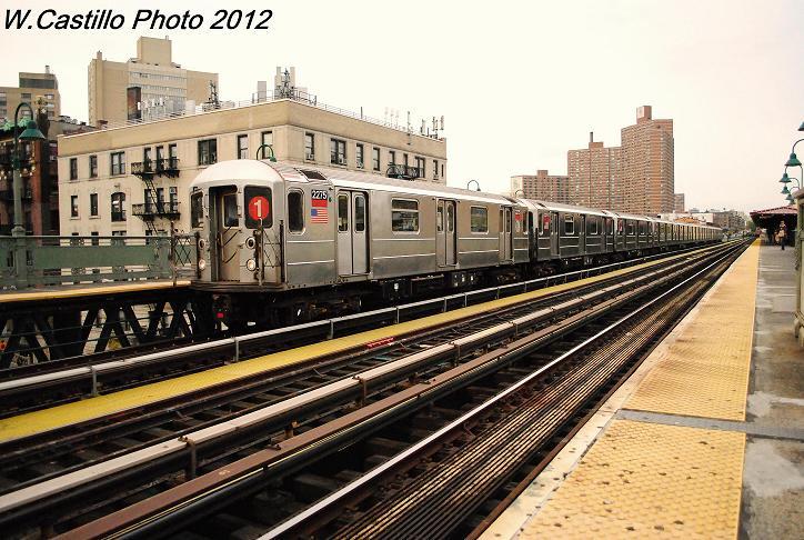 (123k, 724x486)<br><b>Country:</b> United States<br><b>City:</b> New York<br><b>System:</b> New York City Transit<br><b>Line:</b> IRT West Side Line<br><b>Location:</b> 125th Street <br><b>Route:</b> 1<br><b>Car:</b> R-62A (Bombardier, 1984-1987)  2275 <br><b>Photo by:</b> Wilfredo Castillo<br><b>Date:</b> 10/27/2012<br><b>Viewed (this week/total):</b> 2 / 1011