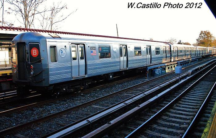 (124k, 699x445)<br><b>Country:</b> United States<br><b>City:</b> New York<br><b>System:</b> New York City Transit<br><b>Line:</b> BMT Brighton Line<br><b>Location:</b> Avenue U <br><b>Route:</b> Layup<br><b>Car:</b> R-68A (Kawasaki, 1988-1989)  5090 <br><b>Photo by:</b> Wilfredo Castillo<br><b>Date:</b> 11/11/2012<br><b>Viewed (this week/total):</b> 0 / 904