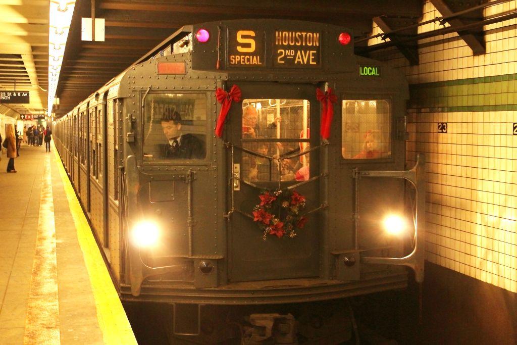 (127k, 1024x683)<br><b>Country:</b> United States<br><b>City:</b> New York<br><b>System:</b> New York City Transit<br><b>Line:</b> IND 6th Avenue Line<br><b>Location:</b> 23rd Street <br><b>Route:</b> Museum Train Service<br><b>Car:</b> R-6-1 (Pressed Steel, 1936)  1300 <br><b>Photo by:</b> Neil Feldman<br><b>Date:</b> 12/16/2012<br><b>Viewed (this week/total):</b> 0 / 867