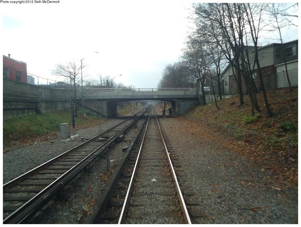 (331k, 1044x788)<br><b>Country:</b> Canada<br><b>City:</b> Toronto<br><b>System:</b> TTC<br><b>Line:</b> TTC Yonge-University-Spadina Subway<br><b>Location:</b> Eglinton <br><b>Photo by:</b> Seth McDermott<br><b>Date:</b> 12/3/2012<br><b>Notes:</b> Yonge Line ROW south of Eglinton, seen from a southbound train ... Hillsdale Avenue bridge ahead<br><b>Viewed (this week/total):</b> 2 / 452