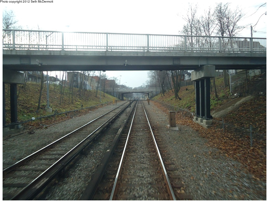 (350k, 1044x788)<br><b>Country:</b> Canada<br><b>City:</b> Toronto<br><b>System:</b> TTC<br><b>Line:</b> TTC Yonge-University-Spadina Subway<br><b>Location:</b> Eglinton <br><b>Photo by:</b> Seth McDermott<br><b>Date:</b> 12/3/2012<br><b>Notes:</b> Yonge Line ROW south of Eglinton, seen from a southbound train ... Manor Road footbridge ahead Lola Rd. bridge after that.<br><b>Viewed (this week/total):</b> 4 / 421