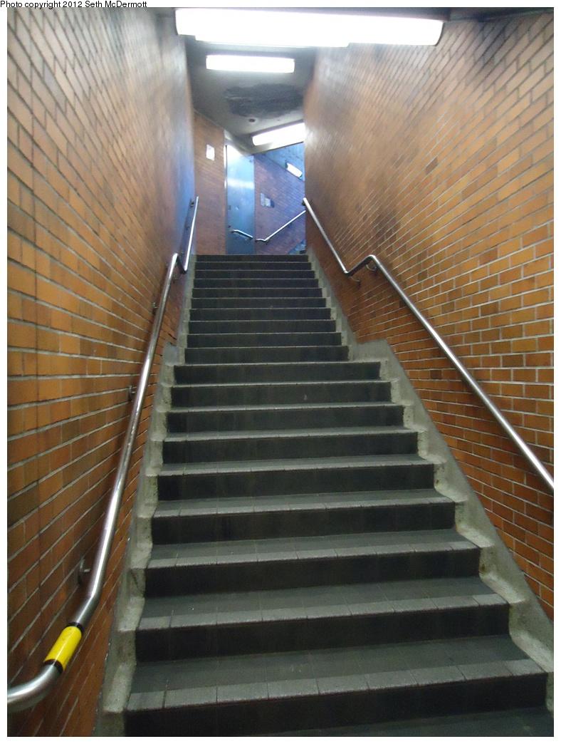 (300k, 788x1044)<br><b>Country:</b> Canada<br><b>City:</b> Toronto<br><b>System:</b> TTC<br><b>Line:</b> TTC Yonge-University-Spadina Subway<br><b>Location:</b> Lawrence <br><b>Photo by:</b> Seth McDermott<br><b>Date:</b> 12/6/2012<br><b>Notes:</b> Stairs to Ranleigh Avenue<br><b>Viewed (this week/total):</b> 1 / 228