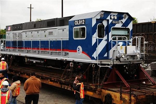 (127k, 600x400)<br><b>Country:</b> United States<br><b>City:</b> New York<br><b>System:</b> New York City Transit<br><b>Location:</b> Linden Yard <br><b>Car:</b> R-156 Diesel-Electric Locomotive (MPI, 2012-2013) 912 <br><b>Photo by:</b> John Dooley<br><b>Date:</b> 5/1/2012<br><b>Viewed (this week/total):</b> 0 / 946