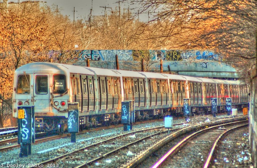 (781k, 1024x671)<br><b>Country:</b> United States<br><b>City:</b> New York<br><b>System:</b> New York City Transit<br><b>Line:</b> BMT Sea Beach Line<br><b>Location:</b> 8th Avenue <br><b>Route:</b> Layup<br><b>Car:</b> R-46 (Pullman-Standard, 1974-75)  <br><b>Photo by:</b> John Dooley<br><b>Date:</b> 1/5/2013<br><b>Viewed (this week/total):</b> 0 / 1764