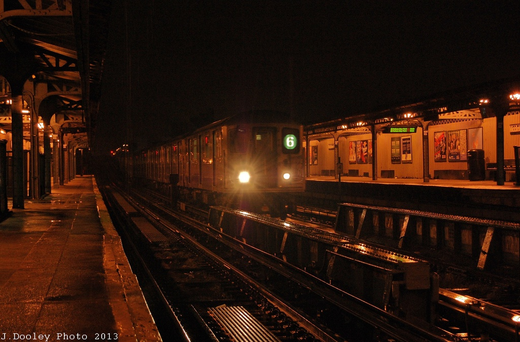 (327k, 1024x674)<br><b>Country:</b> United States<br><b>City:</b> New York<br><b>System:</b> New York City Transit<br><b>Line:</b> IRT Pelham Line<br><b>Location:</b> Middletown Road <br><b>Route:</b> 6<br><b>Car:</b> R-62A (Bombardier, 1984-1987)  2145 <br><b>Photo by:</b> John Dooley<br><b>Date:</b> 1/11/2013<br><b>Viewed (this week/total):</b> 1 / 1436