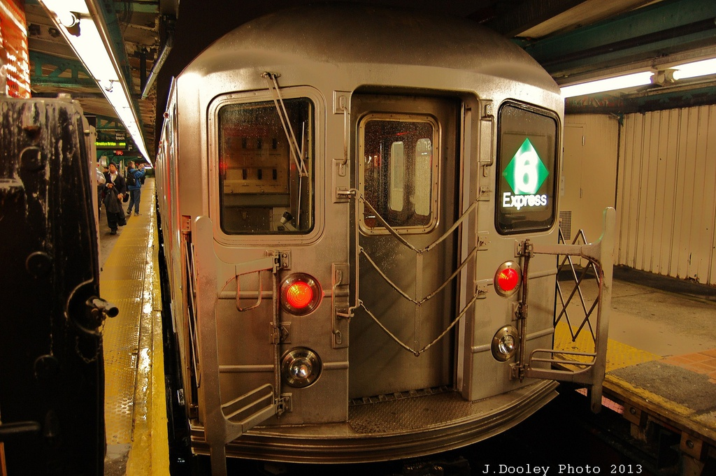 (336k, 1024x681)<br><b>Country:</b> United States<br><b>City:</b> New York<br><b>System:</b> New York City Transit<br><b>Line:</b> IRT Pelham Line<br><b>Location:</b> Pelham Bay Park <br><b>Route:</b> 6<br><b>Car:</b> R-62A (Bombardier, 1984-1987)  2145 <br><b>Photo by:</b> John Dooley<br><b>Date:</b> 1/11/2013<br><b>Viewed (this week/total):</b> 6 / 1714