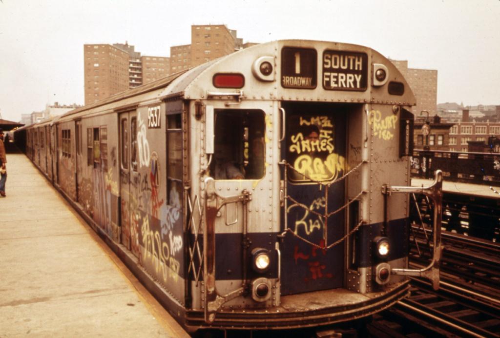(296k, 1024x693)<br><b>Country:</b> United States<br><b>City:</b> New York<br><b>System:</b> New York City Transit<br><b>Line:</b> IRT West Side Line<br><b>Location:</b> 125th Street <br><b>Route:</b> 1<br><b>Car:</b> R-36 Main Line (St. Louis, 1964) 9537 <br><b>Photo by:</b> Erik Calonius, US National Archives<br><b>Collection of:</b> Flickr Commons<br><b>Date:</b> 5/1973<br><b>Viewed (this week/total):</b> 0 / 1188