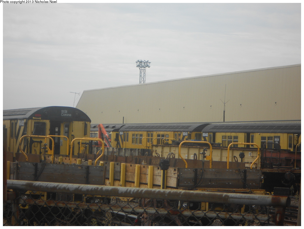 (280k, 1044x788)<br><b>Country:</b> United States<br><b>City:</b> New York<br><b>System:</b> New York City Transit<br><b>Location:</b> Westchester Yard<br><b>Car:</b> R-161 Rider Car (ex-R-33)  RD403/RD441/RD440 <br><b>Photo by:</b> Nicholas Noel<br><b>Date:</b> 8/20/2012<br><b>Viewed (this week/total):</b> 5 / 951