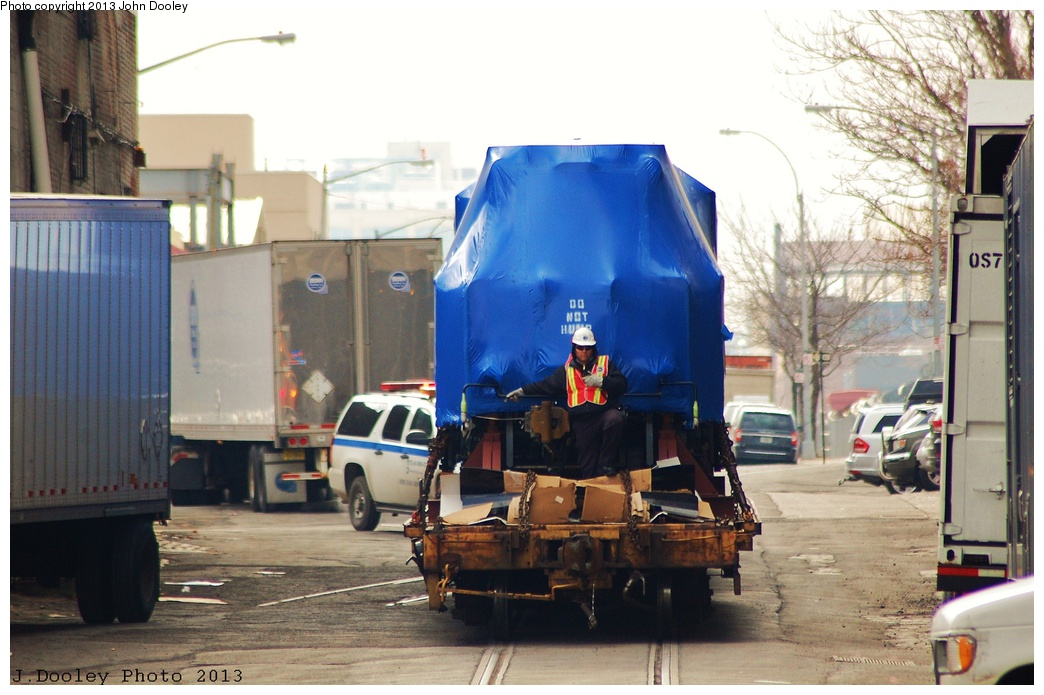 (302k, 1044x695)<br><b>Country:</b> United States<br><b>City:</b> New York<br><b>System:</b> New York City Transit<br><b>Line:</b> South Brooklyn Railway<br><b>Location:</b> 1st Avenue & 39th St (SBK)<br><b>Car:</b> R-156 Diesel-Electric Locomotive (MPI, 2012-2013) 913 <br><b>Photo by:</b> John Dooley<br><b>Date:</b> 2/6/2013<br><b>Notes:</b> Delivery of new R-156 OL913 locomotive.<br><b>Viewed (this week/total):</b> 0 / 993