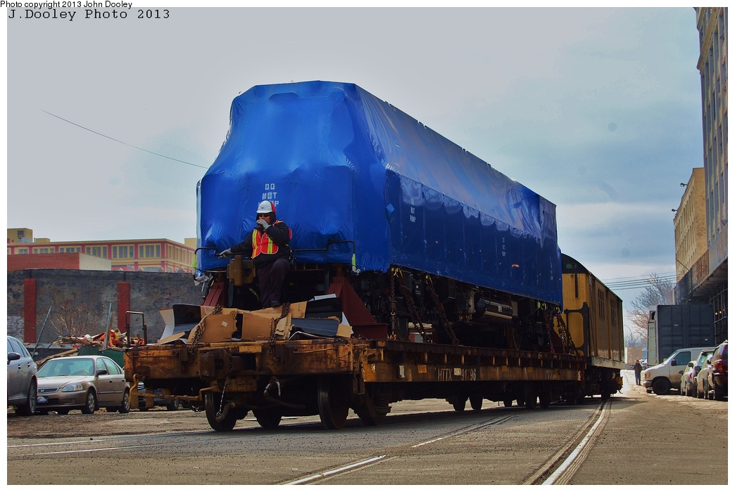 (285k, 1044x700)<br><b>Country:</b> United States<br><b>City:</b> New York<br><b>System:</b> New York City Transit<br><b>Line:</b> South Brooklyn Railway<br><b>Location:</b> 1st Avenue & 39th St (SBK)<br><b>Car:</b> R-156 Diesel-Electric Locomotive (MPI, 2012-2013) 913 <br><b>Photo by:</b> John Dooley<br><b>Date:</b> 2/6/2013<br><b>Notes:</b> Delivery of new R-156 OL913 locomotive.<br><b>Viewed (this week/total):</b> 0 / 1069