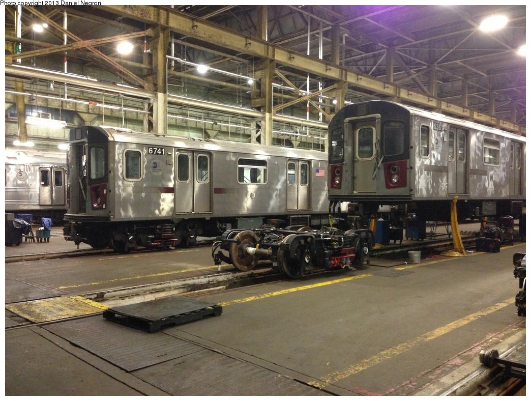 (352k, 1044x788)<br><b>Country:</b> United States<br><b>City:</b> New York<br><b>System:</b> New York City Transit<br><b>Location:</b> 207th Street Shop<br><b>Car:</b> R-142 (Primary Order, Bombardier, 1999-2002)  6741/6361 <br><b>Photo by:</b> Daniel Negron<br><b>Date:</b> 2/14/2013<br><b>Viewed (this week/total):</b> 0 / 1160