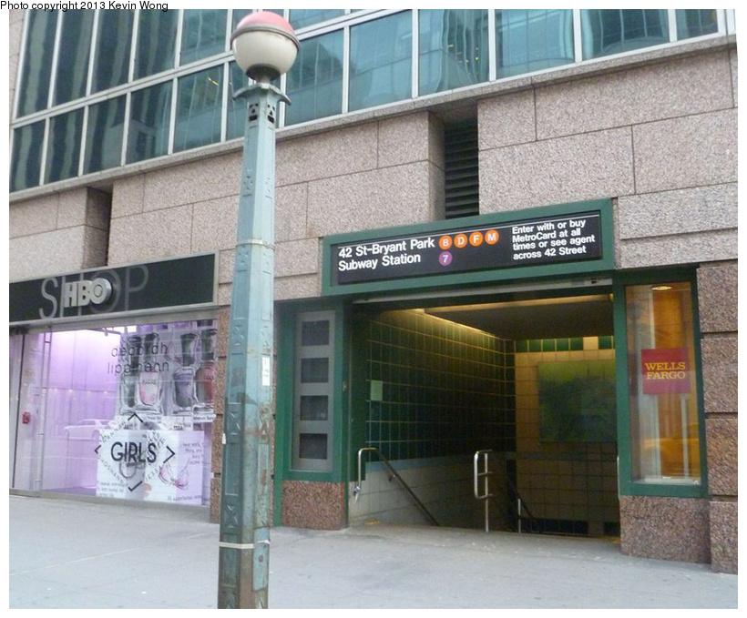 (256k, 820x679)<br><b>Country:</b> United States<br><b>City:</b> New York<br><b>System:</b> New York City Transit<br><b>Line:</b> IND 6th Avenue Line<br><b>Location:</b> 42nd Street/Bryant Park <br><b>Photo by:</b> Kevin Wong<br><b>Date:</b> 2/2/2013<br><b>Viewed (this week/total):</b> 1 / 1230