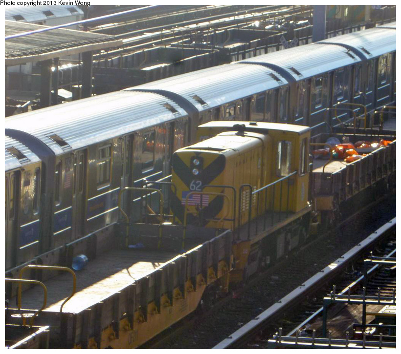 (281k, 820x725)<br><b>Country:</b> United States<br><b>City:</b> New York<br><b>System:</b> New York City Transit<br><b>Location:</b> Corona Yard<br><b>Car:</b> R-43 Locomotive  62 <br><b>Photo by:</b> Kevin Wong<br><b>Date:</b> 1/31/2013<br><b>Viewed (this week/total):</b> 1 / 631