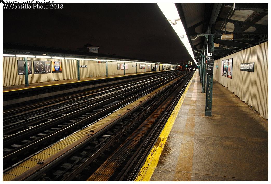 (359k, 1044x707)<br><b>Country:</b> United States<br><b>City:</b> New York<br><b>System:</b> New York City Transit<br><b>Line:</b> IRT Flushing Line<br><b>Location:</b> 52nd Street/Lincoln Avenue <br><b>Photo by:</b> Wilfredo Castillo<br><b>Date:</b> 2/19/2013<br><b>Viewed (this week/total):</b> 0 / 896