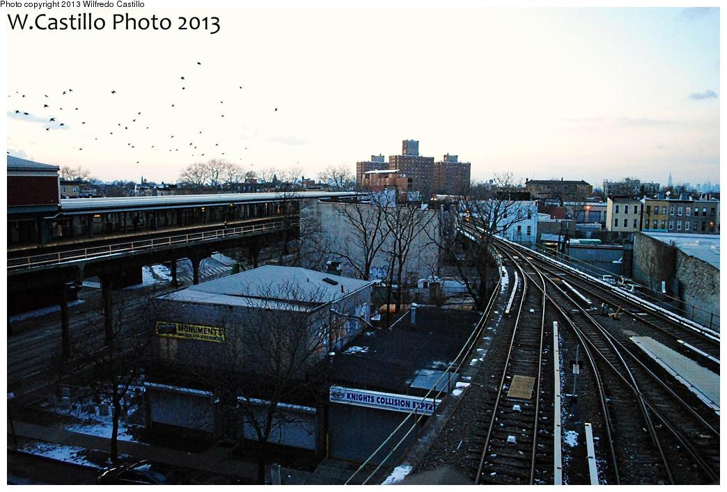 (324k, 1044x707)<br><b>Country:</b> United States<br><b>City:</b> New York<br><b>System:</b> New York City Transit<br><b>Location:</b> East New York Yard/Shops<br><b>Photo by:</b> Wilfredo Castillo<br><b>Date:</b> 2/3/2013<br><b>Notes:</b> Yard lead<br><b>Viewed (this week/total):</b> 0 / 753