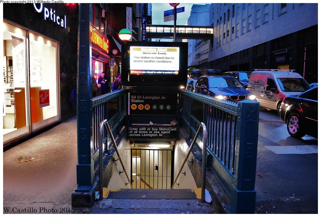 (374k, 1044x707)<br><b>Country:</b> United States<br><b>City:</b> New York<br><b>System:</b> New York City Transit<br><b>Line:</b> IRT East Side Line<br><b>Location:</b> 59th Street <br><b>Photo by:</b> Wilfredo Castillo<br><b>Date:</b> 10/31/2012<br><b>Viewed (this week/total):</b> 1 / 1692