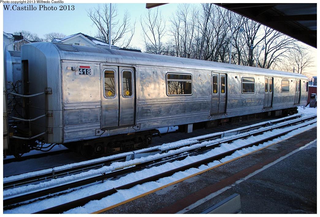 (398k, 1044x707)<br><b>Country:</b> United States<br><b>City:</b> New York<br><b>System:</b> New York City Transit<br><b>Line:</b> SIRT<br><b>Location:</b> Tottenville <br><b>Car:</b> R-44 SIRT (St. Louis, 1971-1973) 418 <br><b>Photo by:</b> Wilfredo Castillo<br><b>Date:</b> 2/10/2013<br><b>Viewed (this week/total):</b> 0 / 1107