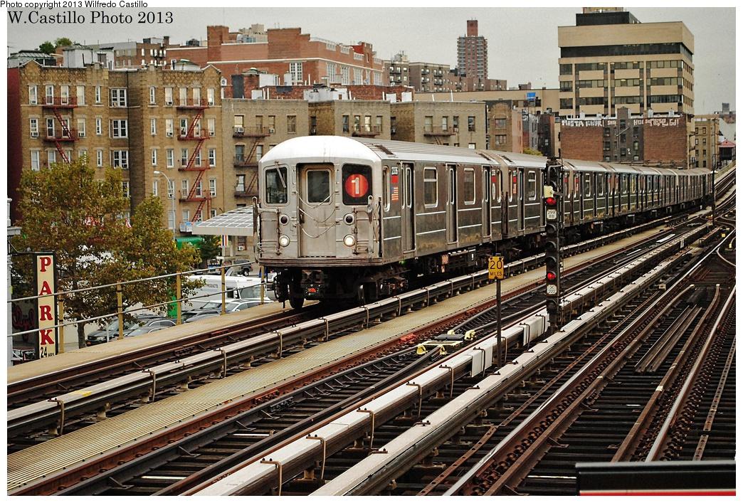 (470k, 1044x707)<br><b>Country:</b> United States<br><b>City:</b> New York<br><b>System:</b> New York City Transit<br><b>Line:</b> IRT West Side Line<br><b>Location:</b> 207th Street <br><b>Route:</b> 1<br><b>Car:</b> R-62A (Bombardier, 1984-1987)  2336 <br><b>Photo by:</b> Wilfredo Castillo<br><b>Date:</b> 10/26/2012<br><b>Viewed (this week/total):</b> 2 / 888
